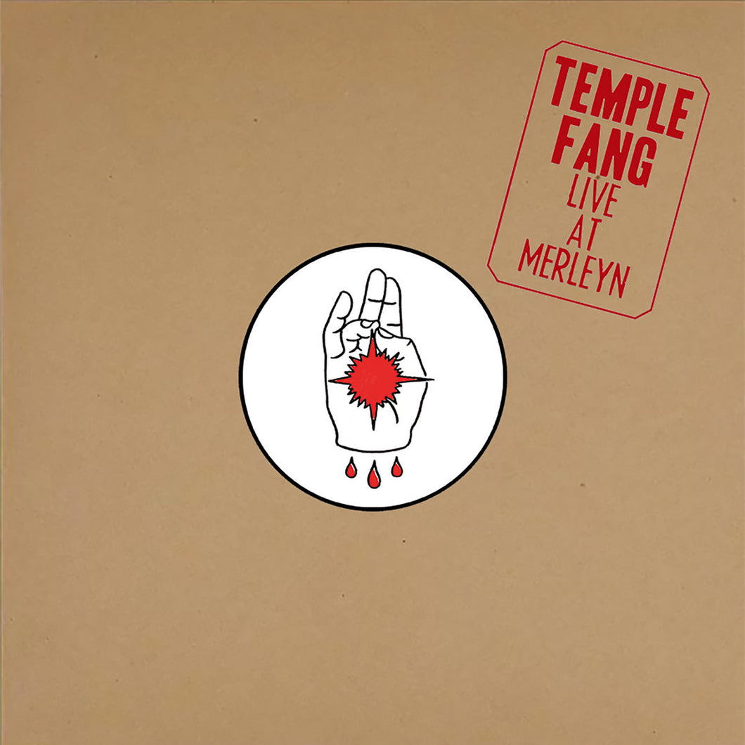 PreOrder/TCP Exclusive Record:  Temple Fang - Live at Merleyn (clear)