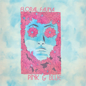 Record:  Floral Fauna - Pink & Blue (pink transparent)