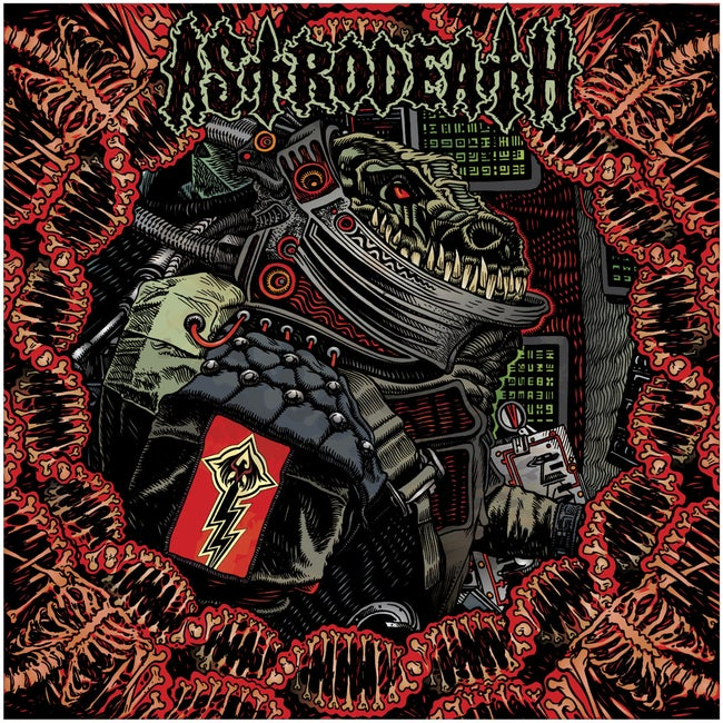 BlackFR-008:  Astrodeath - Self Titled (red/black/clear 3-stripes record)
