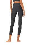 dark grey 7/8 legging sweat wicking for high impact workouts