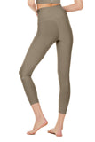 olive 7/8 legging sweat wicking for high impact workouts