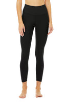 black 7/8 legging sweat wicking for high impact workouts
