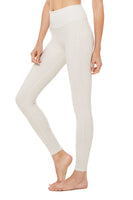 super soft lounge and travel legging with ribbed details