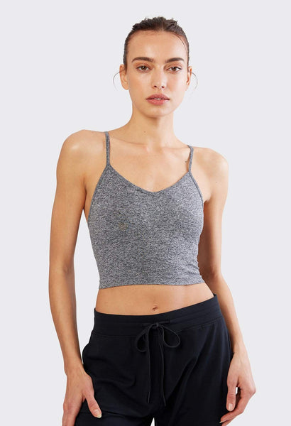 grey slim fit cropped cami