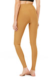 gold 7/8 legging sweat wicking for high impact workouts