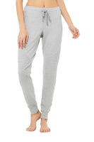 light grey slim fit jogger with stylish panels
