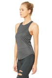 black high neck slim fit tank
