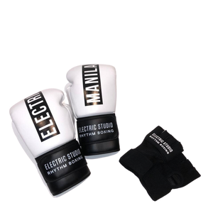 Open image in slideshow, ELECTRIC RHYTHM BOXING GLOVE & WRAP BUNDLE