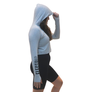 Open image in slideshow, ELECTRIC GRADIENT CROPPED LONGSLEEVE JERSEY HOODIE