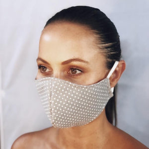 Grey Spotted Fabric Mask