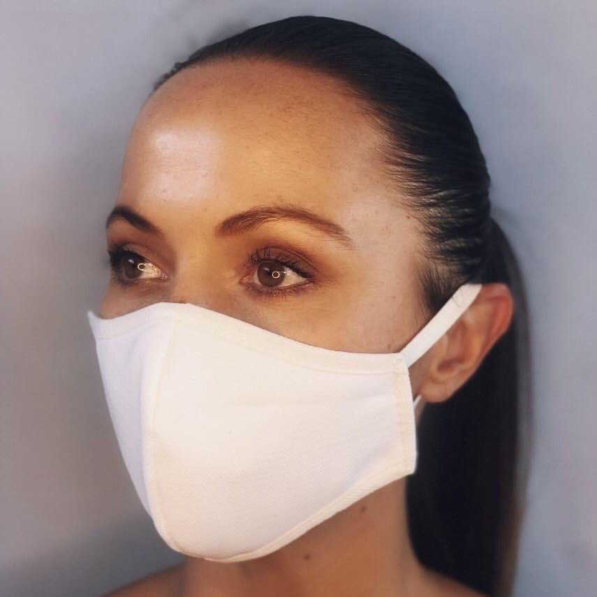 Plain White Fabric Mask