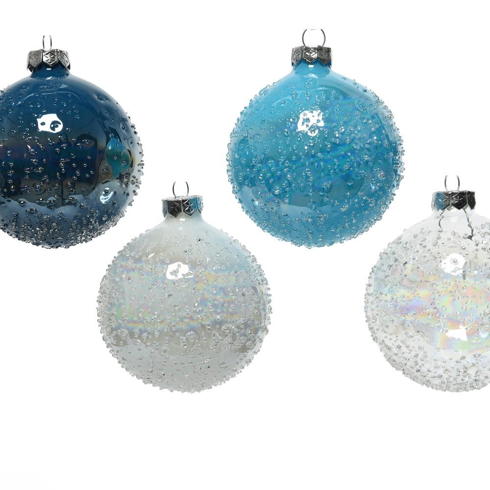 Glass Decorative Bauble- Iris with Dots