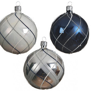 Glass Decorative Bauble- Checked