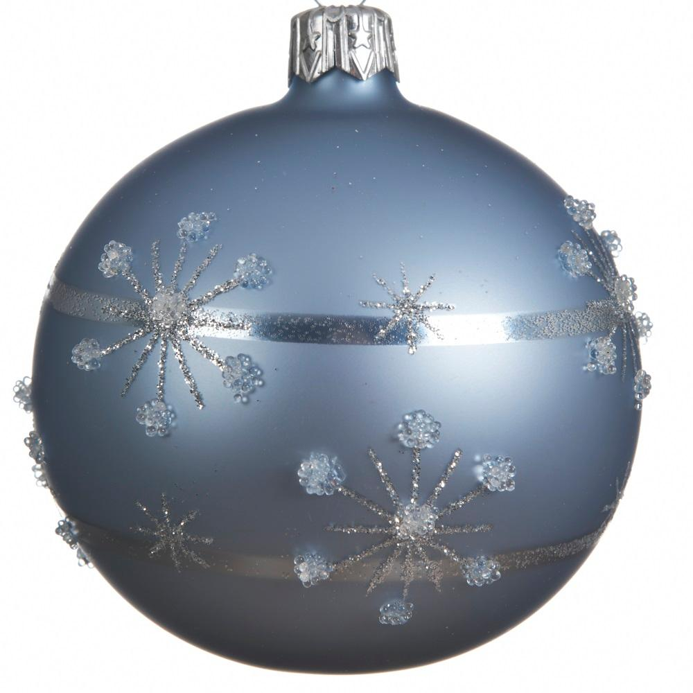 Glass Decorative Bauble- Winter Sky