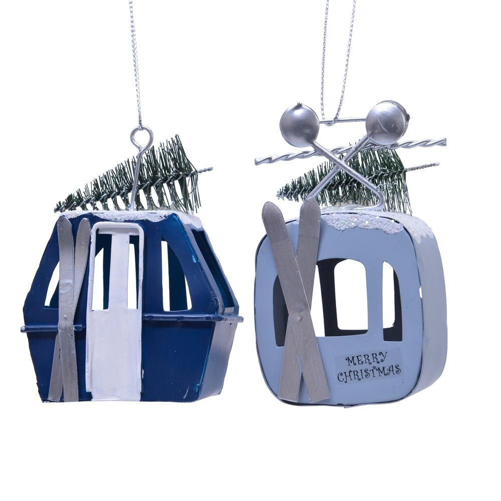 Iron Ski-Lift Hanging Decoration
