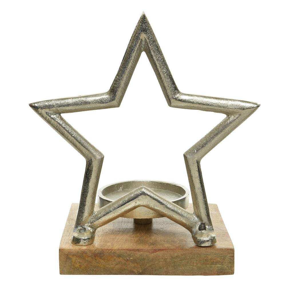 Aluminium Candle Holder- Star