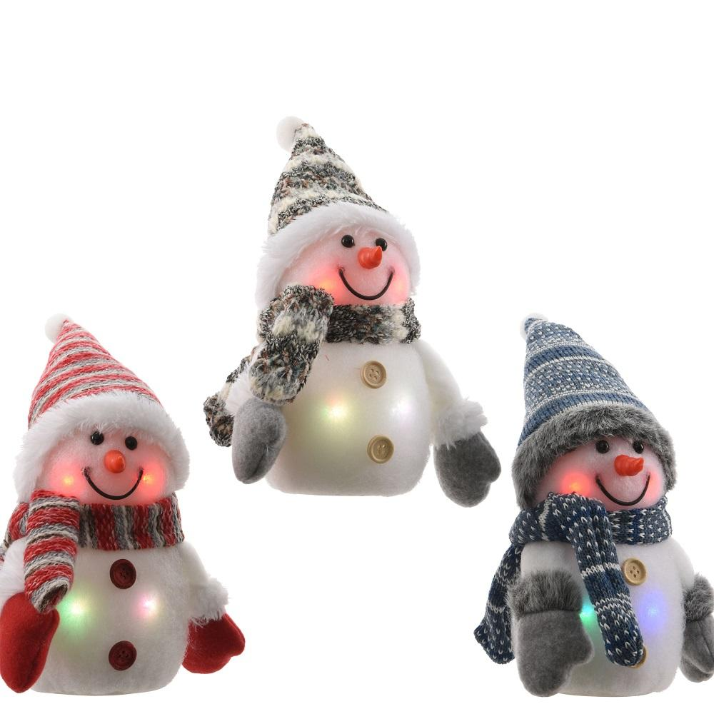 LED Battery Operated- Flashing Snowman