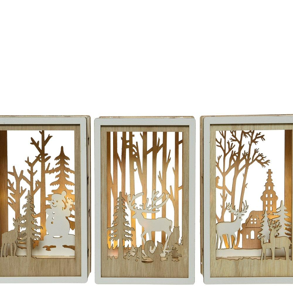 LED Battery Operated- Wooden Cut Out Scene