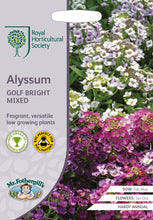 Load image into Gallery viewer, RHS- Alyssum Golf Bright Mixed