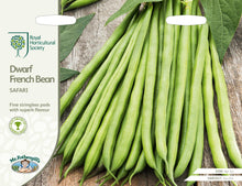 Load image into Gallery viewer, RHS- Dwarf French Bean Safari
