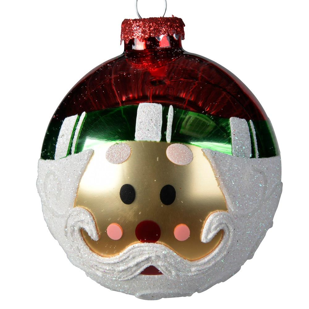 Decorative Bauble- Santa Face Pack of 3