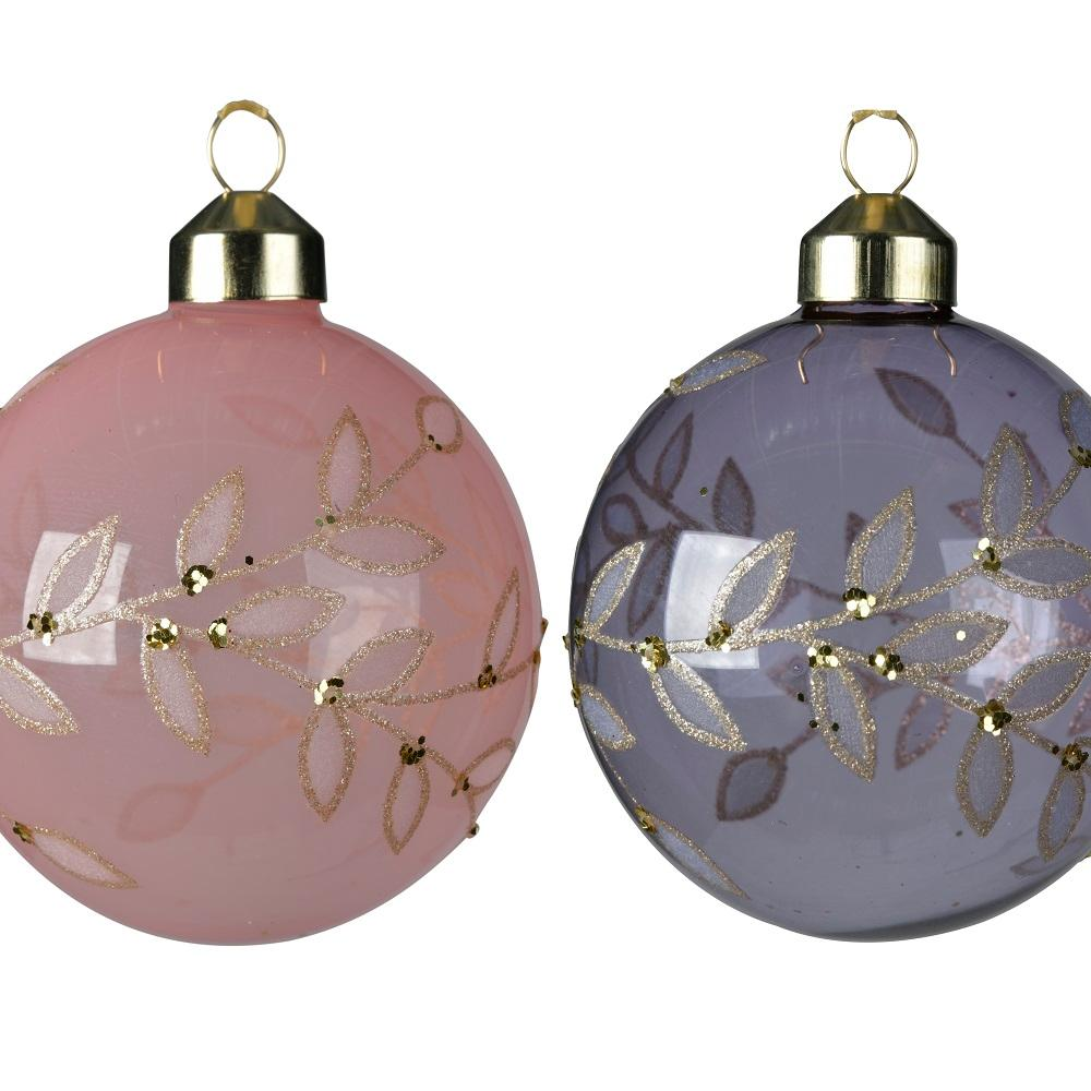 Decorative Bauble- Glitter Leaves