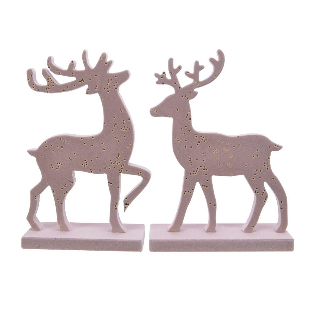 Deer with Gold Dots-Pink Small