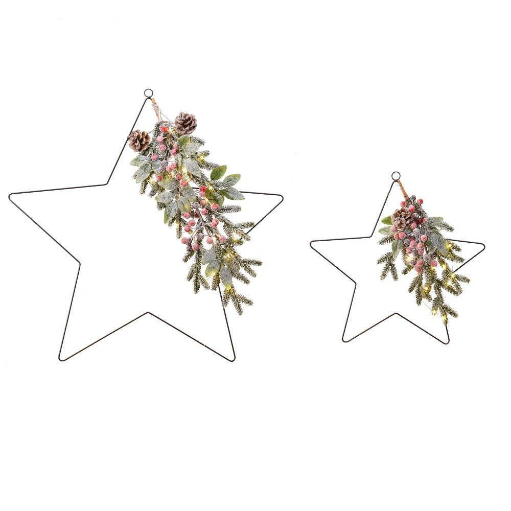 Prelit Battery Operated- Set of 2 Stars