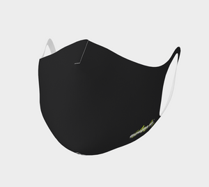 Face Covering - Black - Poly - Disruptive Logo 2