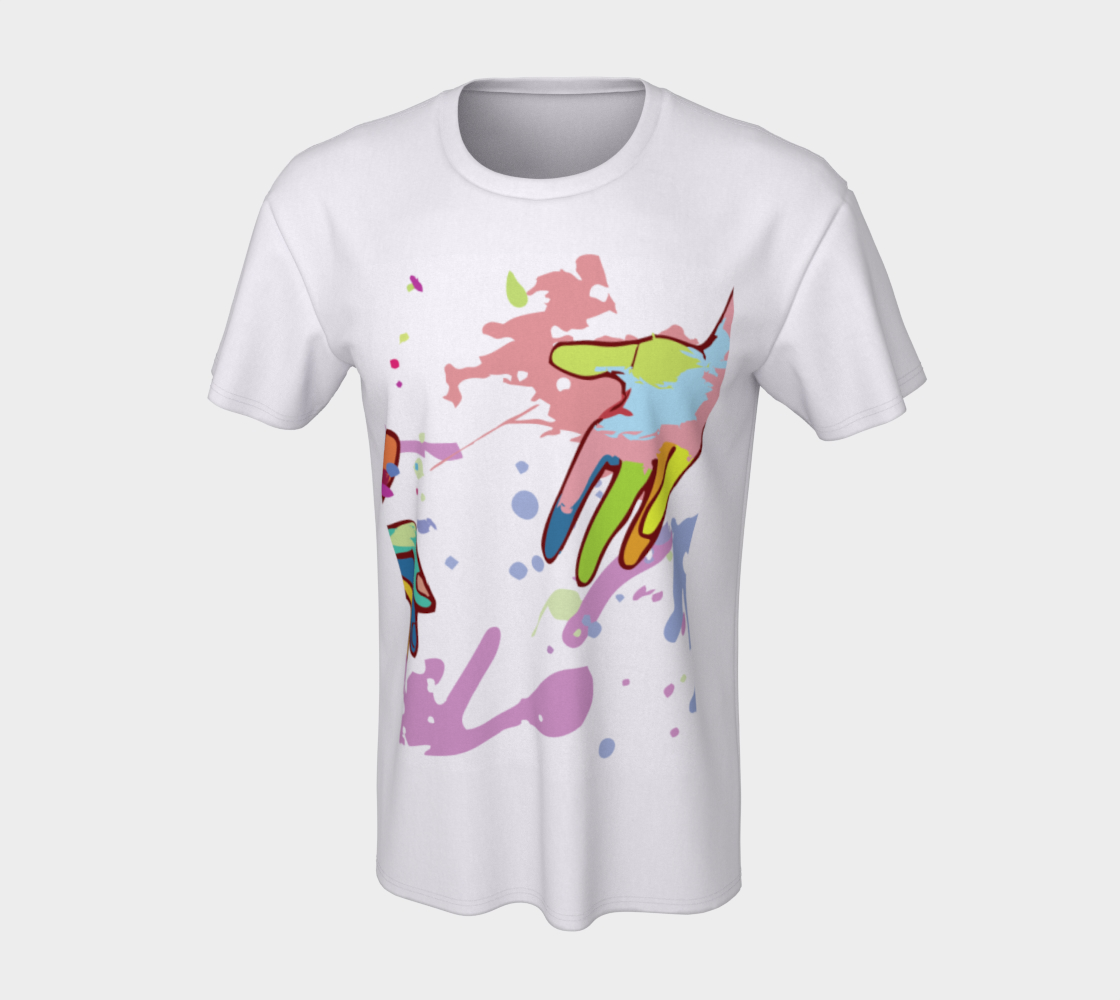 T-shirt - Short Sleeve - Unisex - Seize Life by the Art - Hands Art - Front n Back Print