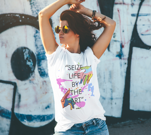 T-shirt - Short sleeve - Unisex - Seize Life by the Art - Quote
