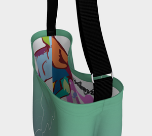 Day Tote - Green - Breathe into Balance + Seize Life by the Art