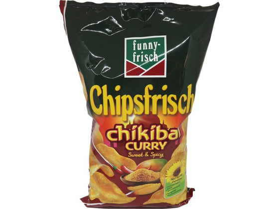A-0- Holiday - Funny Frisch Holiday - Chips, Snacks & Riegel Funny-Frisch Chipsfrisch Chikibai Curry Beutel 175 g dortmund lieferung