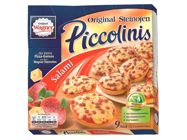 W - Pizza Pizza Wagner Piccolinis Salami 9 x 30 g pizza dortmund lieferung