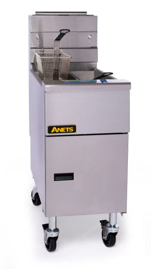 ANETS 14GS GoldenFry Fryer Gas Floor Model 35-50 Lb. Oil Capacity 111000 BTU (6128250421427)