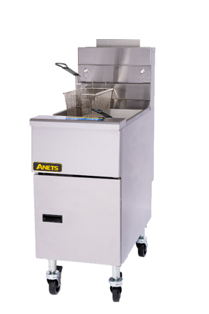 ANETS 45AS Tube Fired Fryer Gas Floor Model 40-45 Lb. Oil Capacity 122000 BTU (6128250323123)