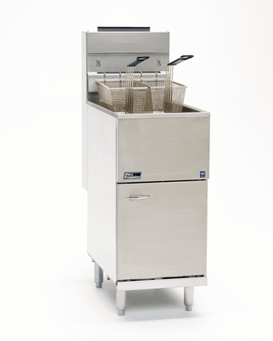 Pitco 45C+S Fryer Gas Floor Model 42-50 Lb. Oil Capacity 122000 BTU (6128250060979)