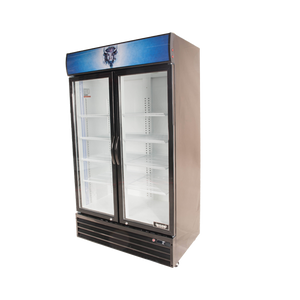 Bison BGM-35 Reach-In Glass Door Refrigerated Merchandiser 35.0 Cu. Ft. (6209240105139)