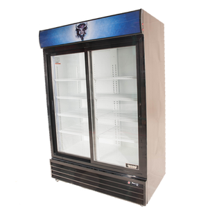 Bison BGM-49-SD Reach-In Glass Door Refrigerated Merchandiser 49.0 Cu. Ft. (6209249214643)