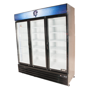 Bison BGM-53 Reach-In Glass Door Refrigerated Merchandiser 53.0 Cu. Ft. (6209253802163)