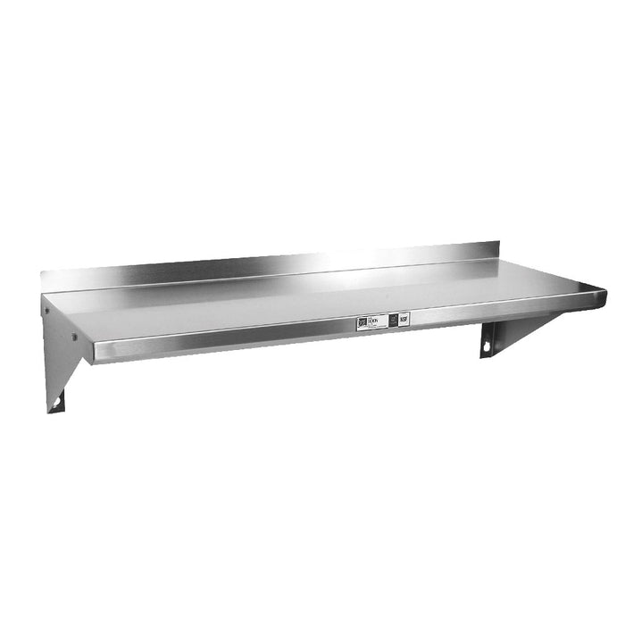 "John Boos BHS1248-X Shelf Wall-Mounted 48""W X 12""D X 9-1/2""H Overall Size 1-1/2"" Rear Up-Turn"