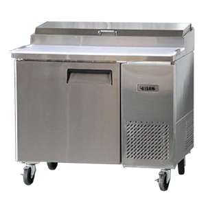 Bison BPT-44 Pizza Prep Table 19.0 Cu. Ft. (6) 1/3 Size Pans (6207860211891)