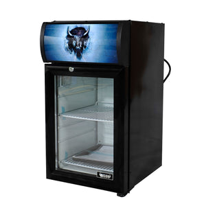 Bison BRM-.74 Countertop Glass Door Refrigerated Merchandiser .74 Cu. Ft. (6209260716211)