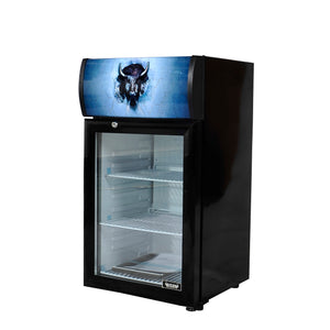 Bison BRM-1.84 Countertop Glass Door Refrigerated Merchandiser 1.84 Cu. Ft. (6209266876595)