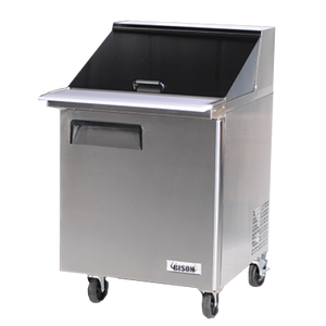 "Bison BST-27-12 Mega Top Prep Table 27""W 7.9 Cu. Ft. (12) Pans (6209117159603)"