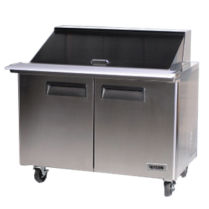 "Bison BST-48-18 Mega Top Prep Table 48""W 14.7 Cu. Ft. (18) 1/6 Size Pans (6209127547059)"