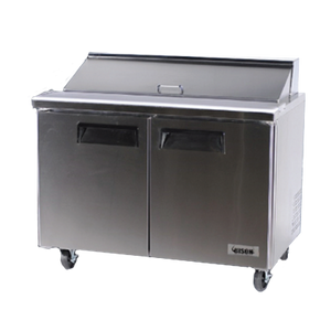 "Bison BST-48 Sandwich Prep Table 48""W 12 Cu. Ft. (12) 1/6 Size Pans (6207835668659)"