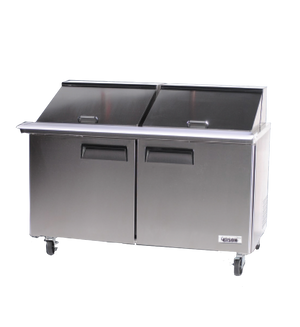"Bison BST-60-24 Mega Top Prep Table 60""W 18.6 Cu. Ft. (24) 1/6 Size Pans (6209133969587)"