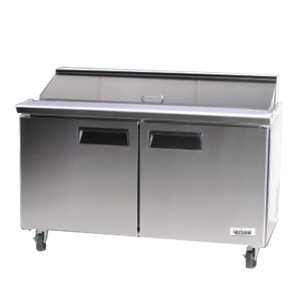 "Bison BST-60 Sandwich Prep Table 60""W 18.2 Cu. Ft. (16) 1/6 Size Pans (6207838781619)"