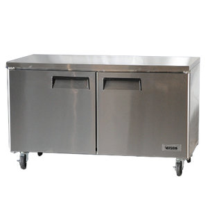 "Bison BUF-60 Undercounter Freezer 60""W 17.9 Cu. Ft. (2) Solid Hinged Doors (6207764496563)"